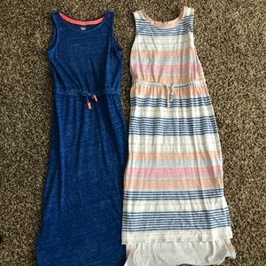 2 girls Old Navy maxi dresses
